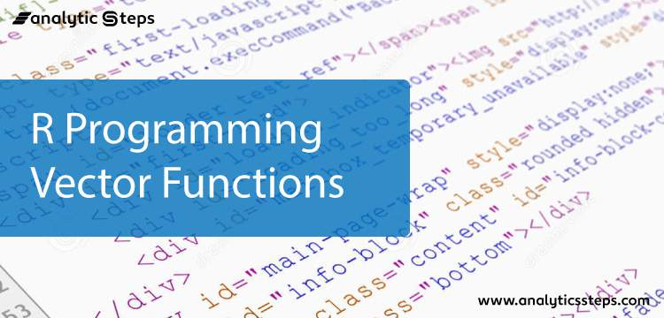 R Programming Vector Functions title banner
